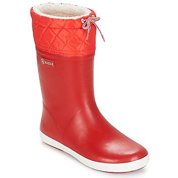 Sapatos Criança Botas de neve Aigle GIBOULEE Vermelho / Branco