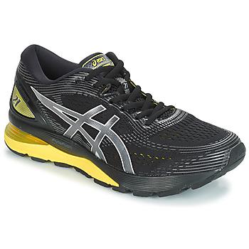 Sapatos Homem Sapatilhas de corrida Asics GEL-NIMBUS 21 Preto / Amarelo