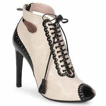 Sapatos Mulher Botas baixas Moschino MA1602A Bege