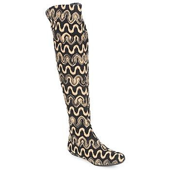 Sapatos Mulher Botas altas Missoni SM05 Bege