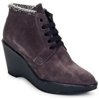 Sapatos Mulher Botas baixas Parallèle LAHO Ameixa