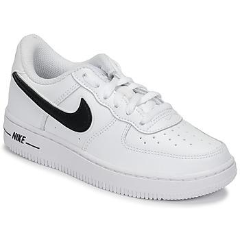 Sapatos Criança Sapatilhas Nike AIR FORCE 1-3 PS Branco / Preto