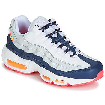 Sapatos Mulher Sapatilhas Nike AIR MAX 95 W Branco / Azul / Laranja
